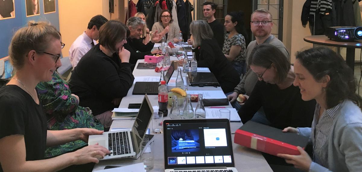 Ett av Intensivsvenskas projektgruppsmöten.